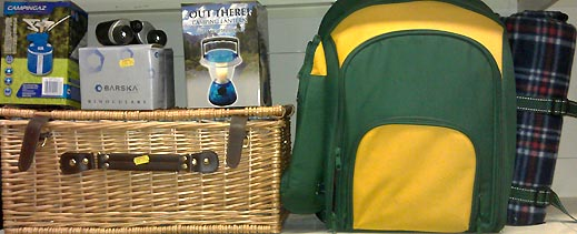 Picnics and otdoor activity equipment